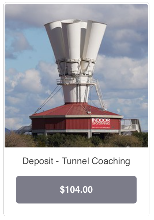 Pay Tunnel Coaching Deposit at Square Up Shop