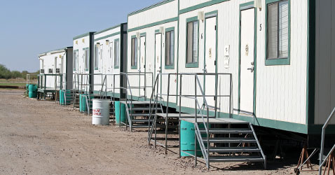 Facilities at Skydive Arizona: housing container