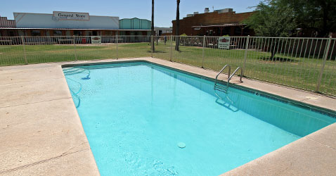Facilities at Skydive Arizona: swimming pool